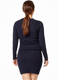 Esprit - Textured Cotton Knit Tunic in Night Blue
