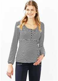 Esprit - Nursing Henley in Blue Stripes
