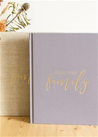 Blossom & Pear - Hello Little Family 25 Years Keepsake in Grey