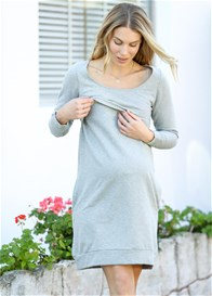 Trimester® - Winter Mama Journey Fleece Dress in Grey