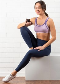QueenBee® - Aura Postnatal Active Leggings in Navy