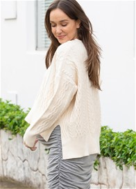 Lait & Co - Josie Cable Knit Cropped Jumper in Cream