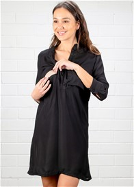 Dote - Gabby Nursing Shirt Dress in Black