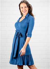 Dote - Mallory Nursing Shirt Dress in Blue