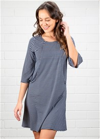 Dote - Orla Nursing Dress in Navy Chevron