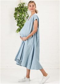 Imanimo - Agathe Babymoon Dress in Chambray