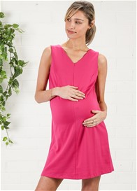 Maternal America - Princess Shift Dress in Hot Pink