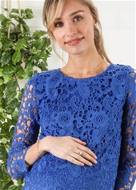 Maternal America - Crochet Dress in Blue