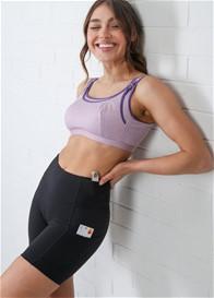 QueenBee® - Mama Ultimate Pocket Active Postpartum Short in Black