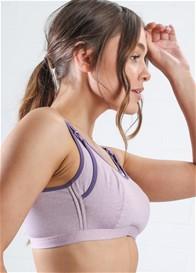 QueenBee® - Luka Nursing Sports Bra in Purple