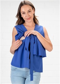 Dote - Tiffany Bow Nursing Top in Blue