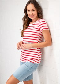 Lait & Co - Trinite Nursing Tee in Red Stripes