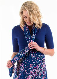 Floressa - Coco Nursing Scarf in Blue Flowerette