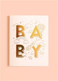 Fox & Fallow - Baby Universe Greeting Card in Pink