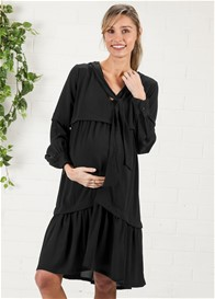 Imanimo - Nadia Tiered Midi Dress in Black