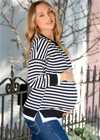 Lait & Co - Alodie Nursing Sweater in Black Stripes