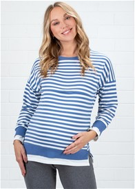 Lait & Co - Alodie Nursing Sweater in Blue Stripes
