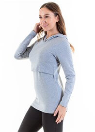 Lait & Co - Billey Breastfeeding Hoodie in Light Grey