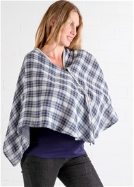 Lait & Co - Cadene Nursing Cover in Grey Plaid