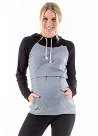 Lait & Co - Calais Nursing Hoodie in Grey/Black