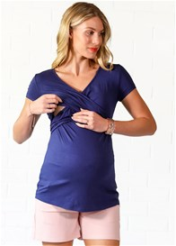 Lait & Co - Delaunay Nursing Top in Navy - ON SALE