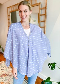 Lait & Co - Nursing Couverture in Blue Polkadot