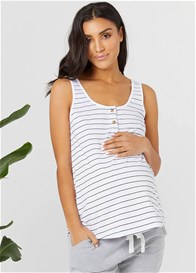 Legoe - Ellery Tank in White/Black Stripe