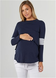 Legoe - Falling For You Nursing Tee in Navy