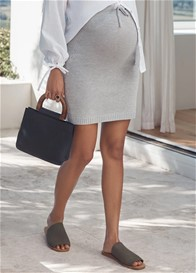 Legoe - Knit Skirt in Silver Grey