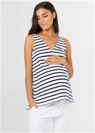 Legoe - Louis Feeding Tank in White/Navy Stripe