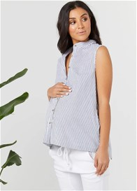 Legoe - Majorca Tank in White/Navy Stripe