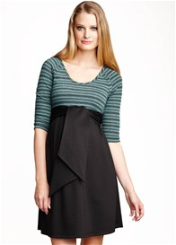 Maternal America - Mojito Scoop Front Tie Dress - ON SALE
