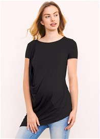 Maternal America - Shoulder Pleat Tee - ON SALE