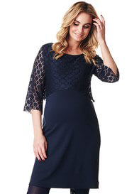 Noppies - Marron Lace Overlay Nursing Dress