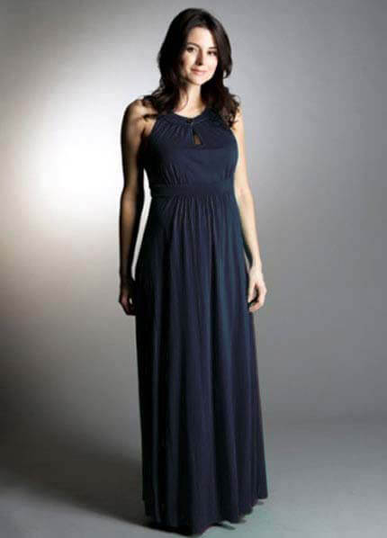 Queen Bee Ava Keyhole Maxi Maternity Dress by Momzee