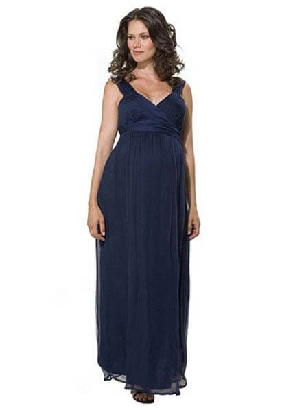Queen Bee Midnight Maternity Evening Dress by Crave