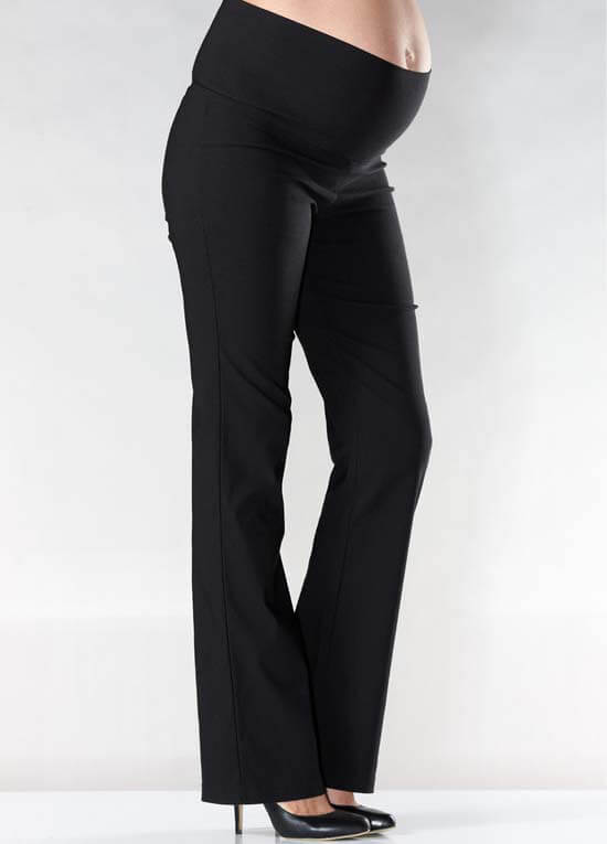 Queen Bee Classic Foldover Black Maternity Pants by Soon Maternity