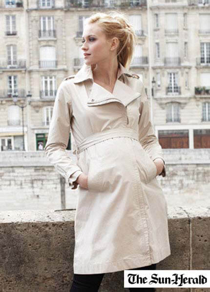 Queen Bee Tabitha Maternity Trench Coat by Seraphine