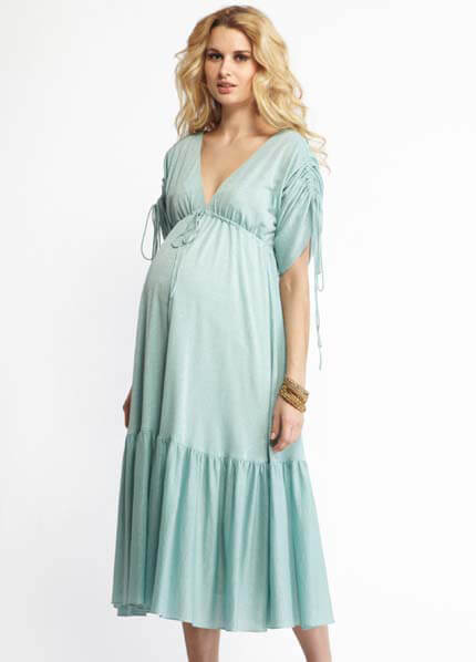 Queen Bee Beatrix Mint Maternity Boho Dress by More of Me