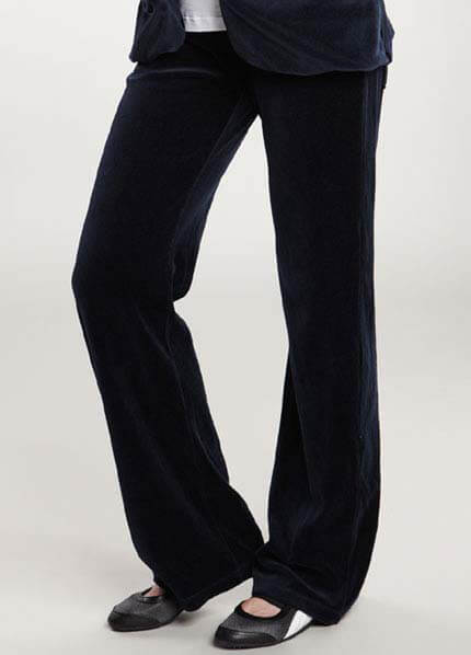 Queen Bee Velour Maternity Track Pants by Maternal America