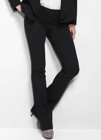 Queen Bee San Francisco Black Straight Leg Pants by Slacks & Co