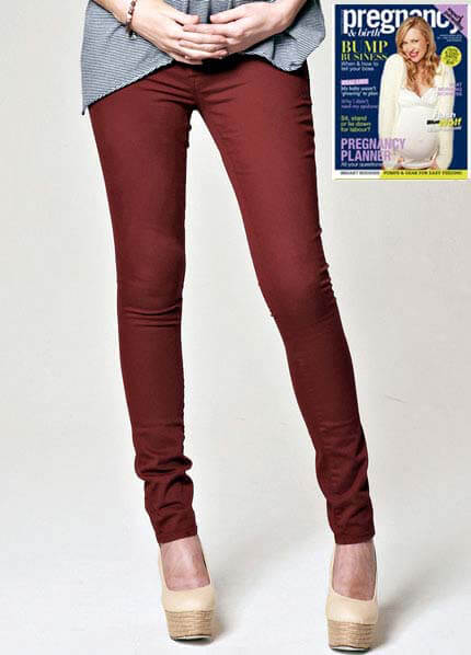 Queen Bee Reina Mountain Red Skinny Maternity Jeans by Mavi