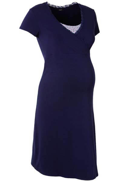 Queen Bee Marni Maternity/Nursing Dress in Navy Blue by Noppies