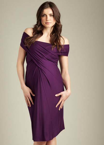 Queen Bee Convertible Miracle Maternity Dress in Grape by Maternal America