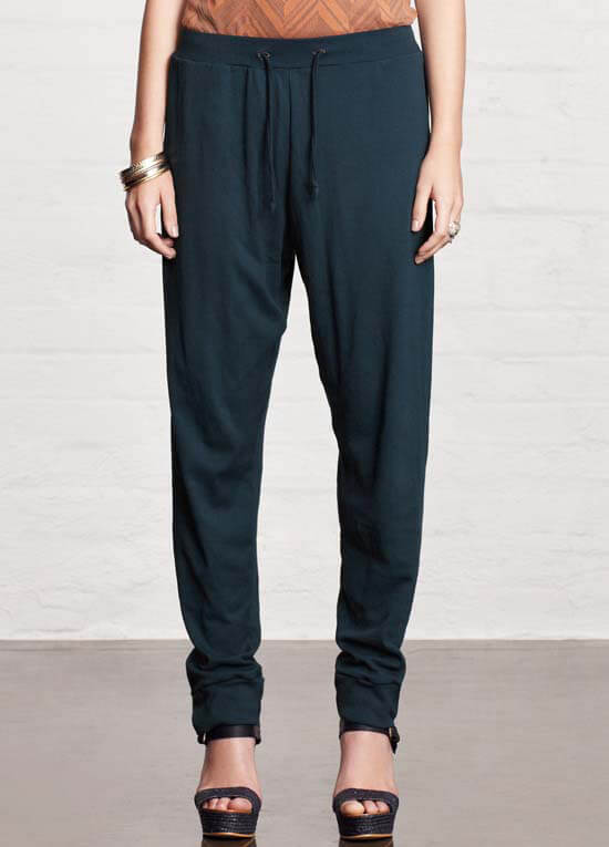 Queen Bee Aurora Blue Slouch Pant by Mesop