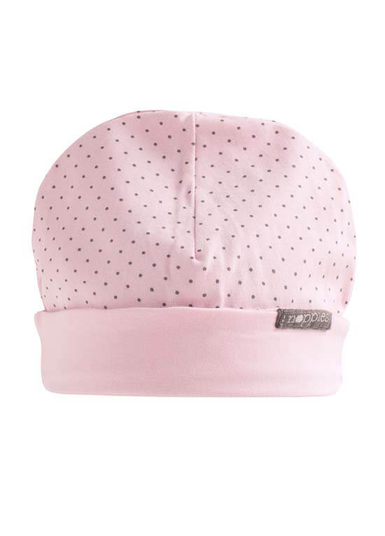 Queen Bee Gojira Reversible Baby Hat in Pink Polkadot by Noppies Baby