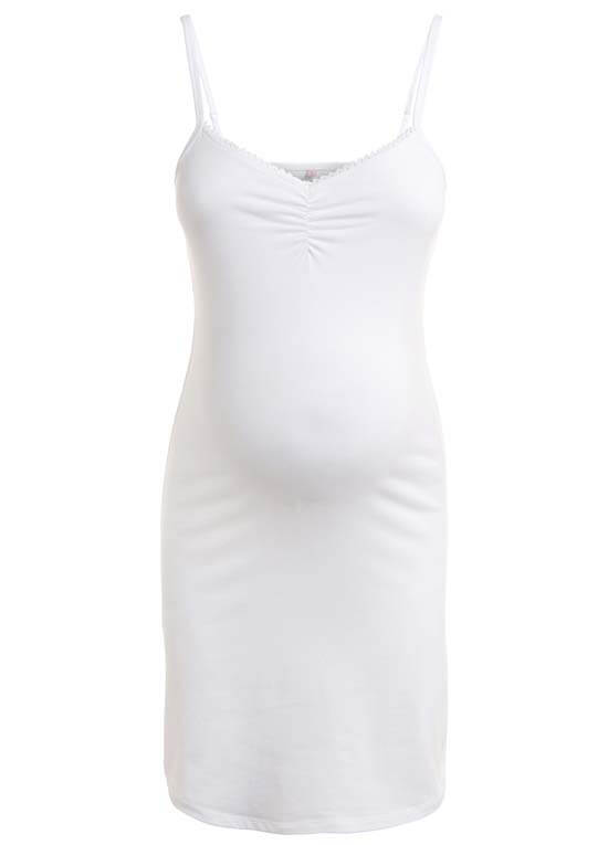 Aida Maternity Slip Dress In White By Noppies
