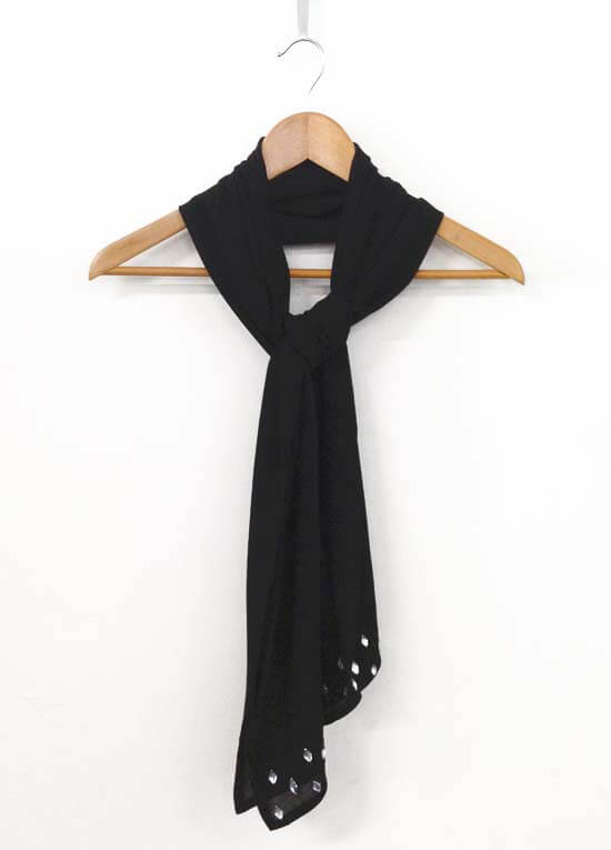 Queen Bee Silk Evening Wrap in Black by Crave