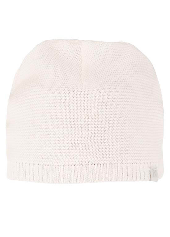 Queen Bee Rosita Cotton Knit Baby Hat in White by Noppies Baby
