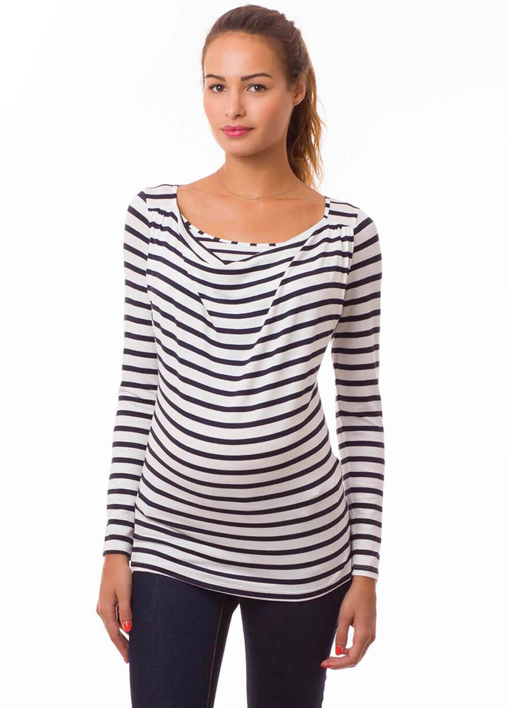 Pomkin - Milkizzy Prisca Breastfeeding Top in Nautical Stripes